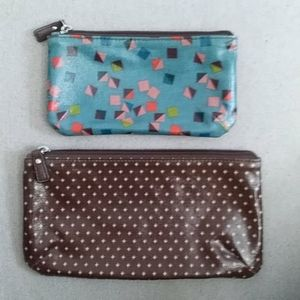 Fossil Set of Zippered Pouches